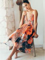 Aura V-Neck Boho Dress - 4