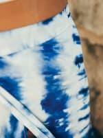 Maxi Skirt in Blue Tie Dye - 7