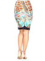 Printed Fitted Pencil Skirt - 6