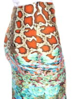 Printed Fitted Pencil Skirt - 5