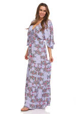 Patchwork Maxi Dress - 4