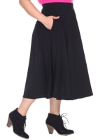 Flared Midi Skirt With Pockets - 3