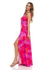 Pink Palm Maxi Dress - 5