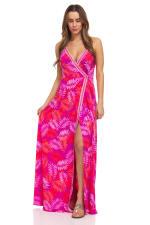 Pink Palm Maxi Dress - 3
