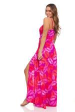 Pink Palm Maxi Dress - 10