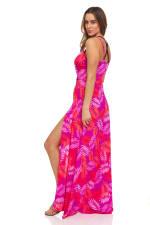 Pink Palm Maxi Dress - 9