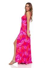 Pink Palm Maxi Dress - 6