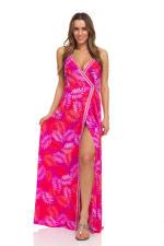 Pink Palm Maxi Dress - 4