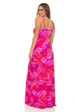 Pink Palm Maxi Dress - 11