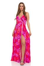 Pink Palm Maxi Dress - 12
