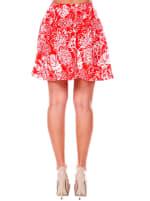 Heidi Leaf Flared Mini Skirt - 2