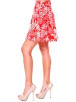 Heidi Leaf Flared Mini Skirt - 6