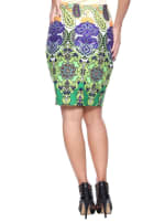 Knee Length Fitted Pencil Skirt - 12