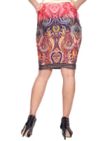 Knee Length Fitted Pencil Skirt - 15