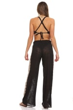 Lace Trim Pull On Pant - 2