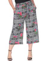 Retro Gaucho Geometric Print Pants - Plus - 6