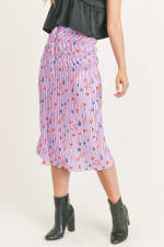 Floral Pleated Maxi Skirt - 13