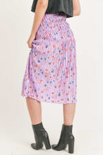Floral Pleated Maxi Skirt - 17