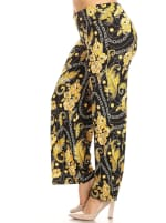 Printed Relaxed Wide Palazzo Pants - Plus - 3