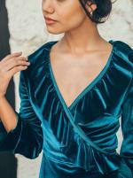 Short Velvet Cocktail Dress - 8