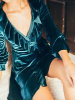 Short Velvet Cocktail Dress - 10