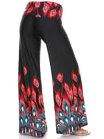Orange Teal Printed Palazzo Pants - 37
