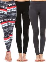 Pack of 3 Soft Versatile Leggings - 1