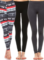 Pack of 3 Soft Versatile Leggings - 2