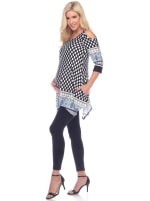 Maternity Printed Cold Shoulder Tunic - Plus - 3