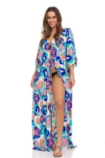 Blue Maxi Robe - 3