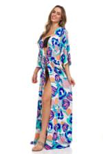 Blue Maxi Robe - 4