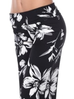 Flower Print Wide Palazzo Pants - 3