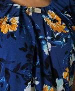 Short Sleeve Dolman Blouse - Water Color Flower Garden - Detail