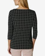 Tulip Sleeve Blouse - Broken Geo - Back