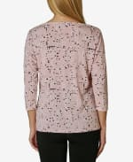 Tulip Sleeve Blouse - Multi Dot Pale Mauve - Back