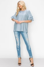 Waiva Top - Blue - Front