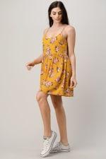 Rayon Challis Floral Button Front Dress - 2