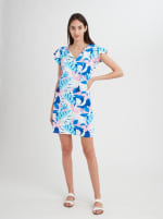 Stella Parker Sasha Ruffle Sleeve Tassel Dress - 1
