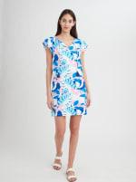 Stella Parker Sasha Ruffle Sleeve Tassel Dress - 6