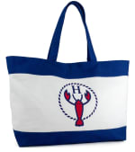 The Hamptons Large Logo Canvas Tote - 1