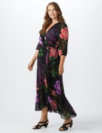 Maxi  Floral Ruffle Dress-Plus - 4