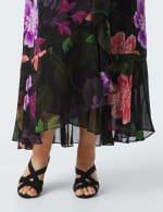 Maxi  Floral Ruffle Dress-Plus - 3