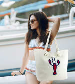 The Hamptons Canvas Beach Tote - 1