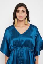 Short Adjustable Satin Tunic Nightwear Dress - Plus - 11