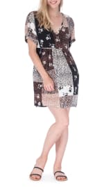 Patchwork Print Sun Dress - 3