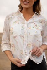 Embroidered Textured Button Front Shirt - 3