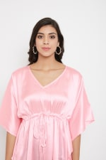 Short Adjustable Satin Tunic Nightwear Dress - Plus - 15