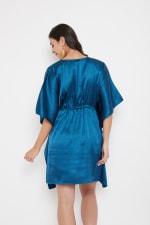 Short Adjustable Satin Tunic Nightwear Dress - Plus - 10