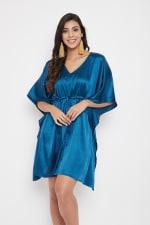 Short Adjustable Satin Tunic Nightwear Dress - Plus - 9