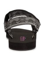 Yodel Velcro Sandal - Black / White Tribal - Back